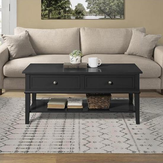View Franklin wooden coffee table in black