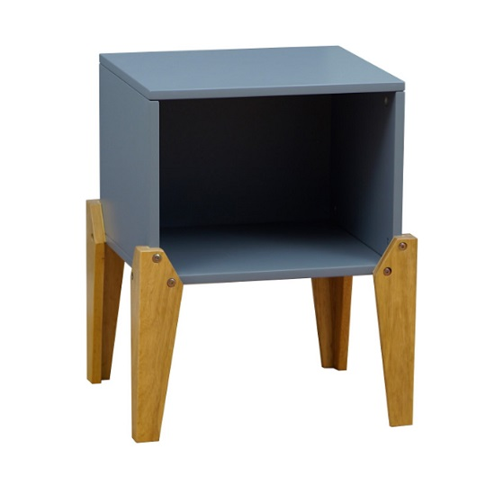 View Fremont contemporary wooden bedside table in grey