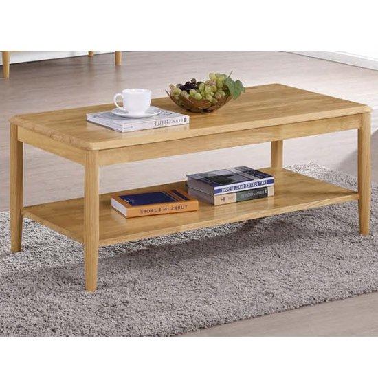 View Garnet coffee table in light oak