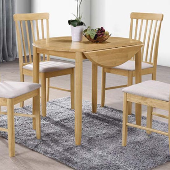 View Garnet round drop leaf dining set with 2 chairs