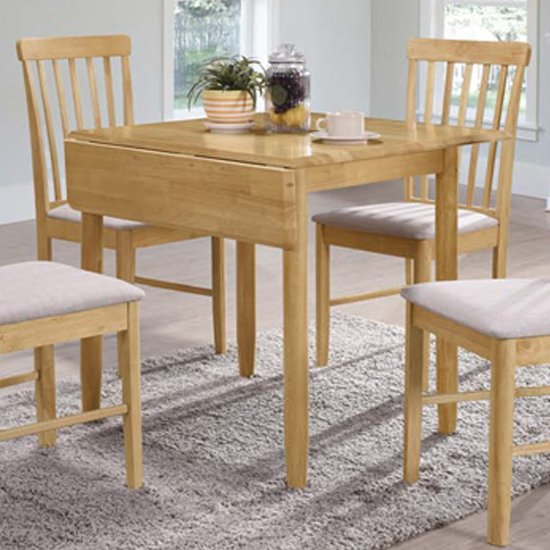 View Garnet square drop leaf dining set with 2 chairs