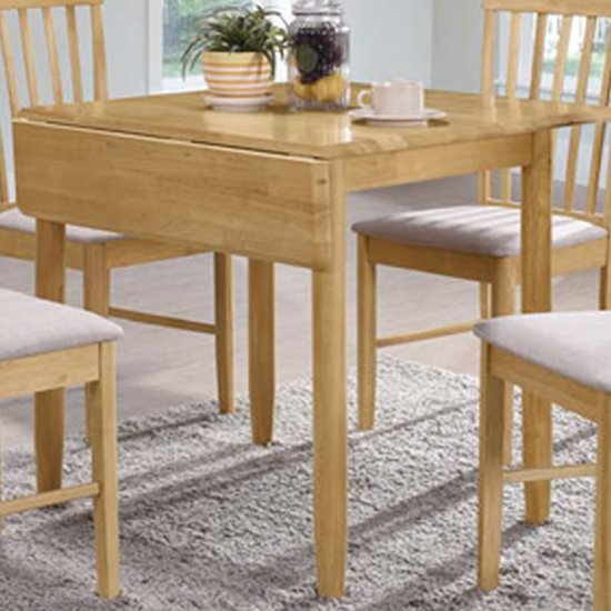 View Garnet square drop leaf dining table in light oak