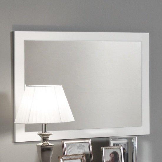 View Gianna wall mirror rectangular in white gloss