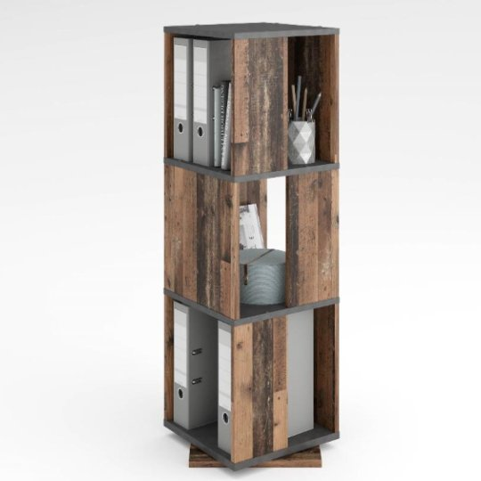 View Harper swivelling storage cabinet in matera and old style dark