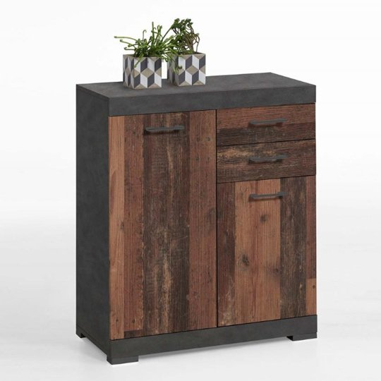 View Holte wooden small sideboard in matera and old style dark