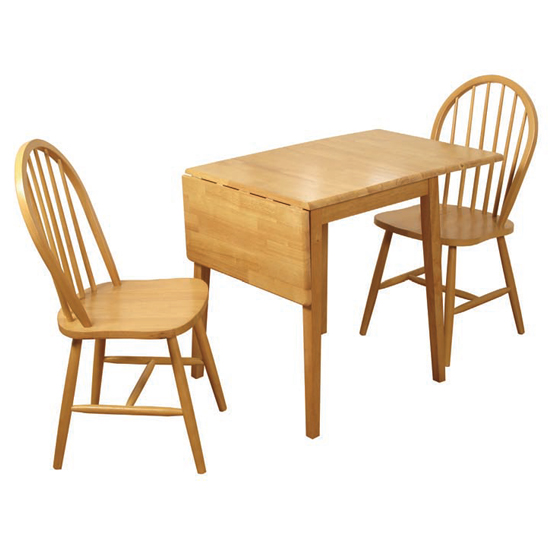 View Honeymoon drop leaf dining set in 2 chairs
