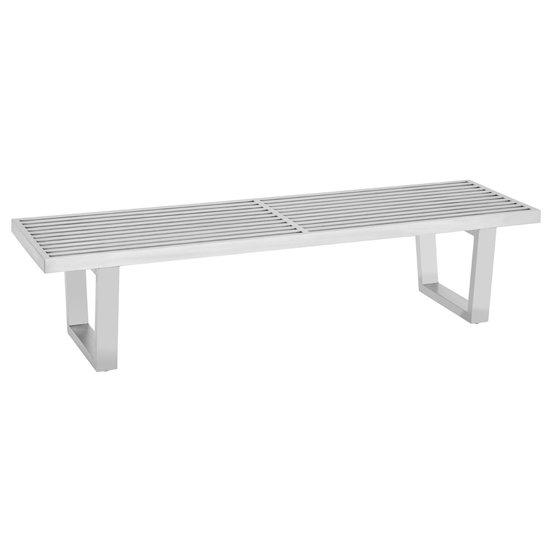 View Fafnir stainless steel hallway bench in silver