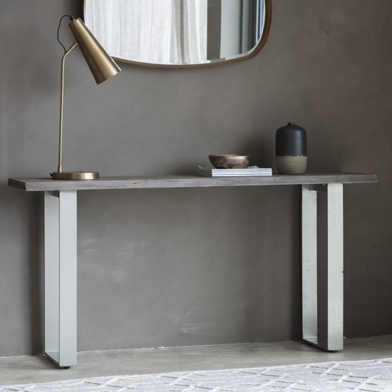 View Huntington console table in grey