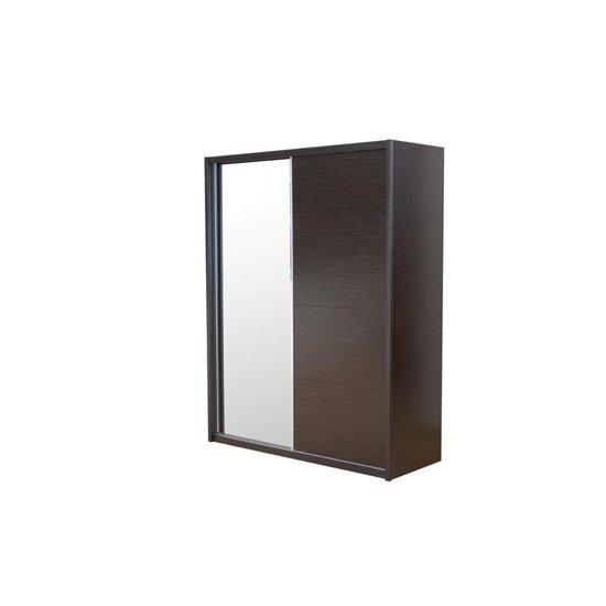 View Laura mirrored sliding wardrobe in white gloss 2 with doors