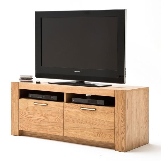 View Loano wooden small tv unit in wild oak