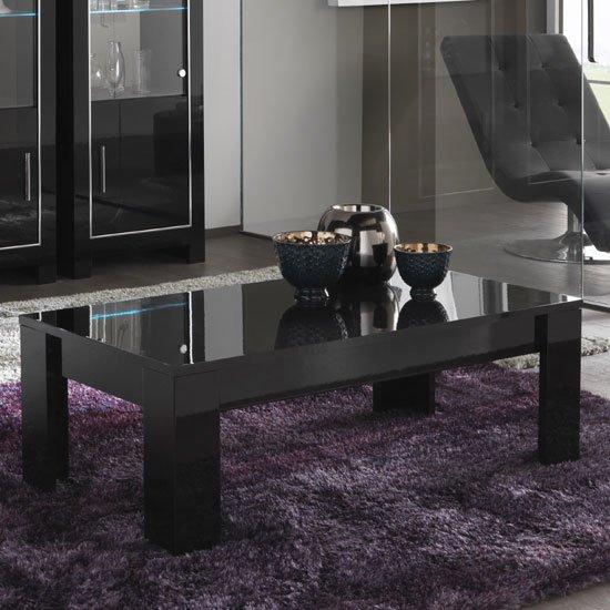 View Lorenz coffee table rectangular in black high gloss