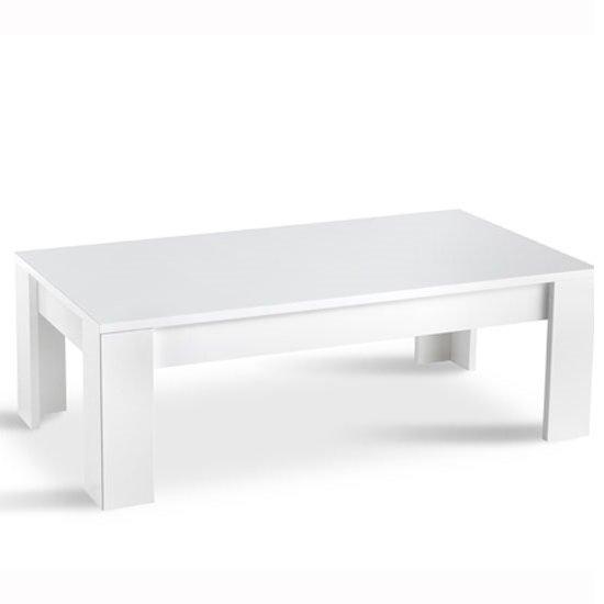 View Lorenz coffee table rectangular in white high gloss