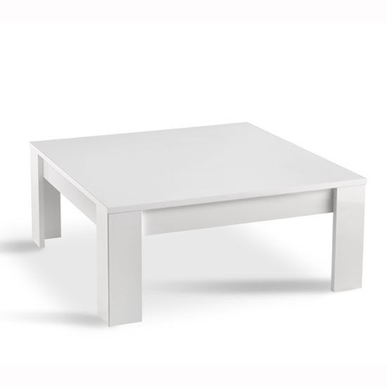 View Lorenz coffee table square in white high gloss