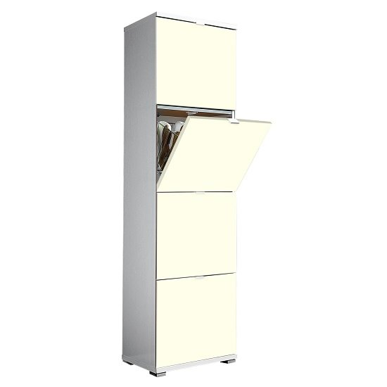 View Madison large shoe storage cabinet with vanilla fronts