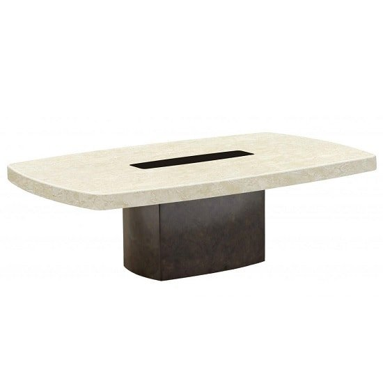 View Malissa marble coffee table rectangular in cream and brown