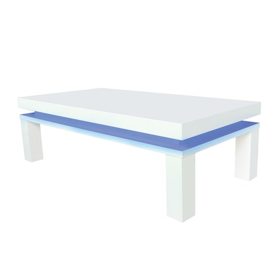 View Milano wooden coffee table in high gloss white