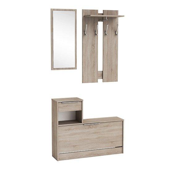 View Monale hallway furniture set in brushed oak