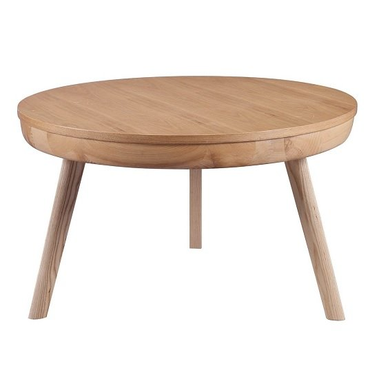 View Morvik wooden coffee table round in ash