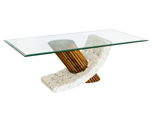 View Barnaby coffee table in clear glass top
