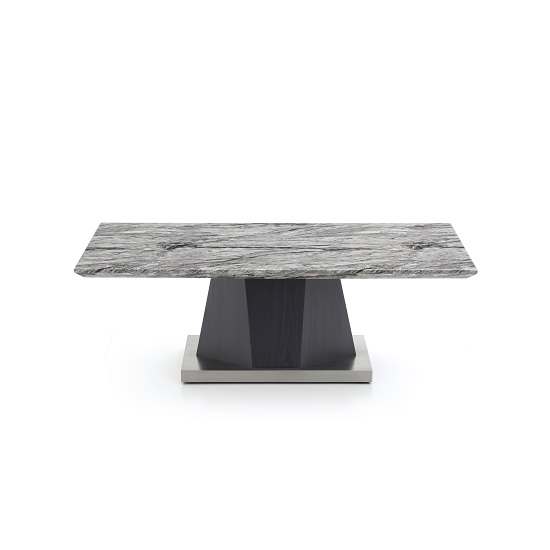 View Octave marble top coffee table rectangular in charcoal grey