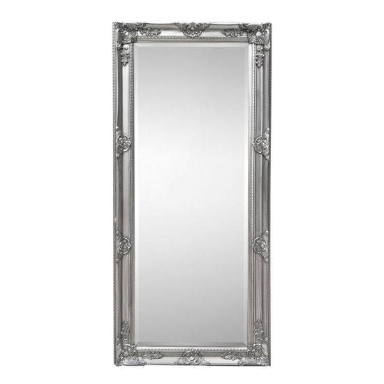 View Palais lean-to dress mirror in pewter wooden frame