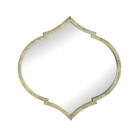 View Paleo contemporary wall mirror in antique gold