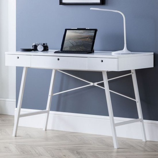 View Palmer wooden laptop desk in white