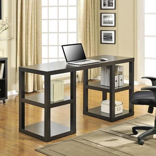 View Parsons wooden deluxe laptop desk in espresso