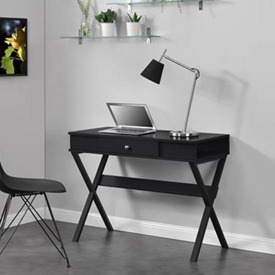 View Paxton wooden laptop desk in black