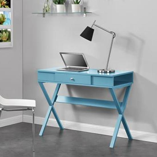 View Paxton wooden laptop desk in blue