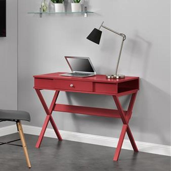 View Paxton wooden laptop desk in red