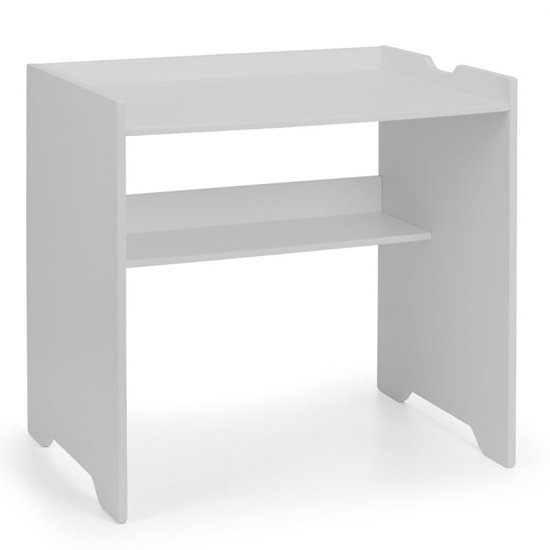 View Pluto wooden study desk in dove grey
