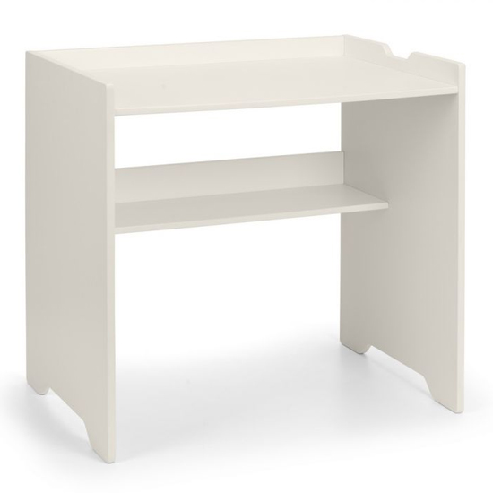 View Pluto wooden study desk in stone white