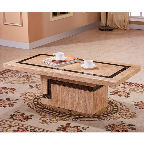View Potenza marble coffee table in lacquer