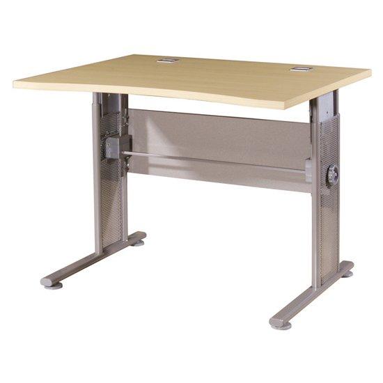 View Profi small laptop desk in maple and silver
