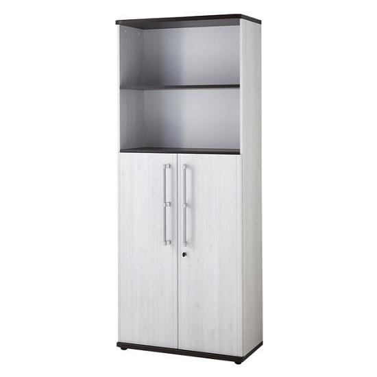 Photo of Profi Lockable Filing Cabinet In Larch And Havanna Oak