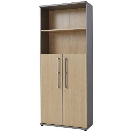 Photo of Profi Lockable Combination Filing Cabinet In Maple And Silver