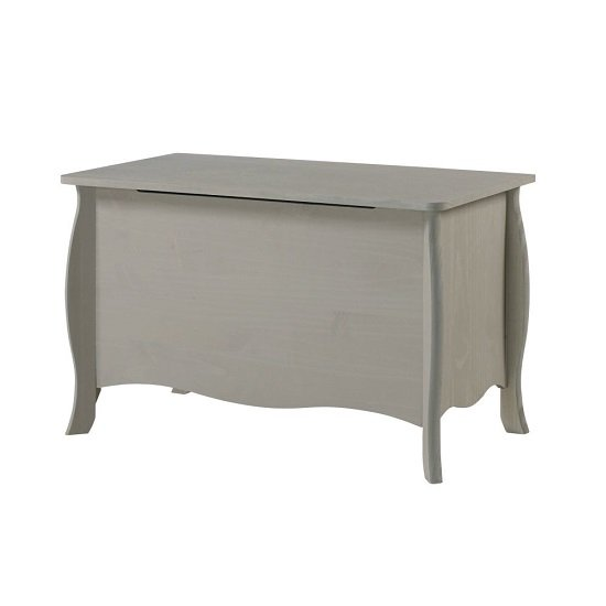 View Province wooden storage trunk in grey finish