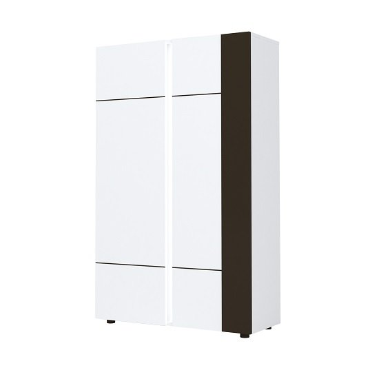View Ramet wooden highboard in white gloss and grey lacquered
