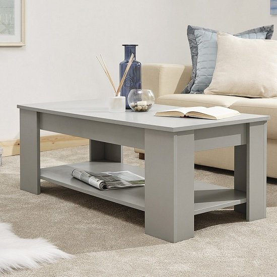 View Raymond coffee table rectangular in grey with lift up top
