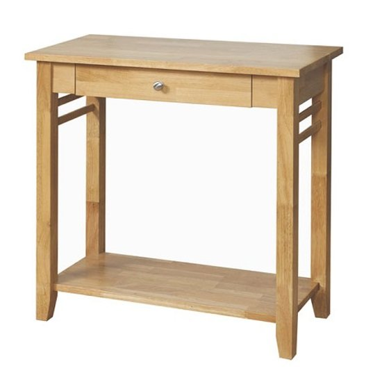 View Rivero wooden console tables in light oak with 1 drawer