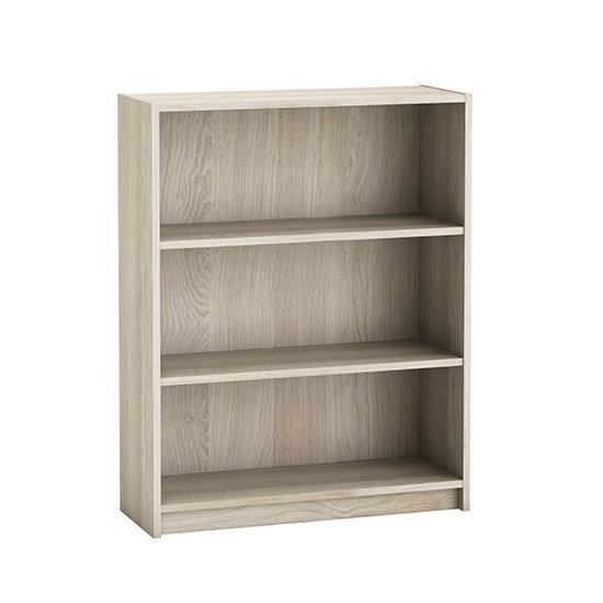 View Sharatan wooden bookcase in shannon oak with 2 shelves