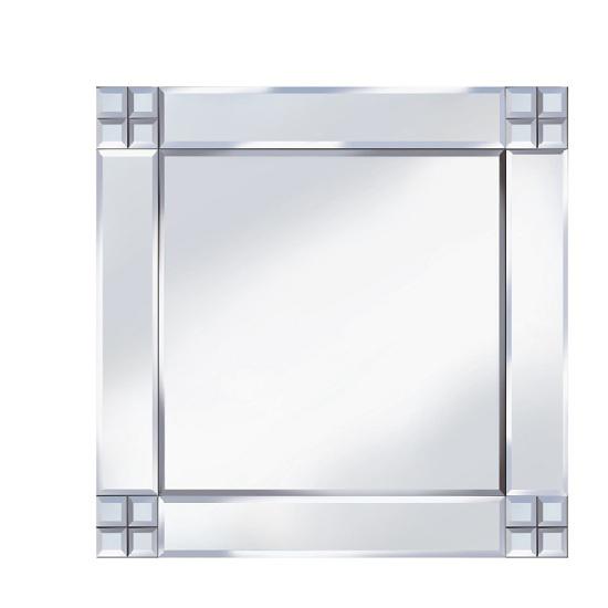 View Multi-square design 60x60 decorative mirror