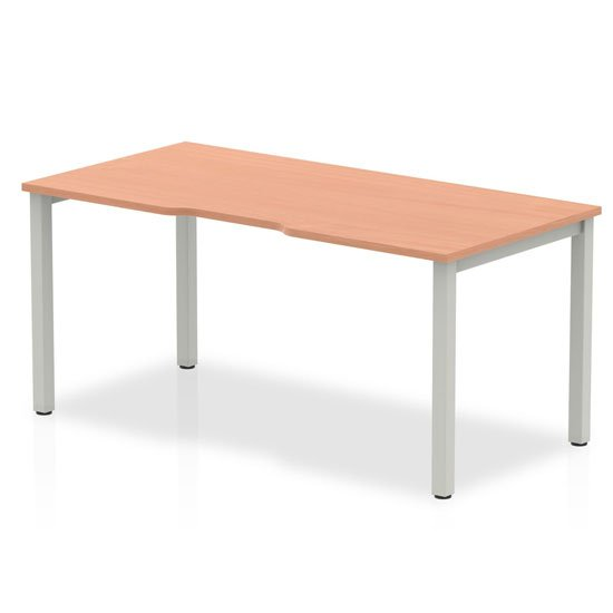 View Single small laptop desk in beech with silver frame