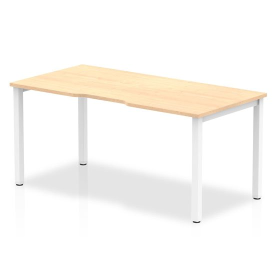 View Single small laptop desk in maple with white frame