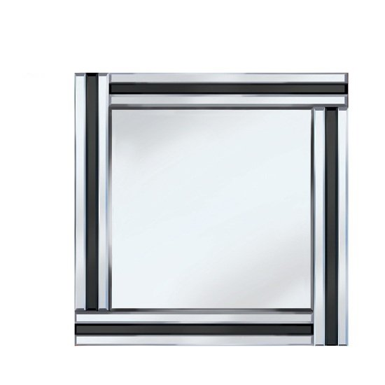 View Black stripe 60x60 square mirror