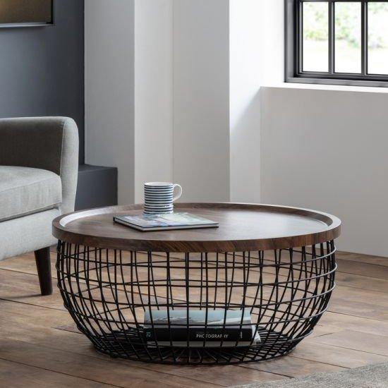 View Smithson storage coffee table in walnut