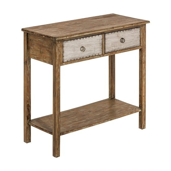 View Sophia wooden console table with 2 drawers