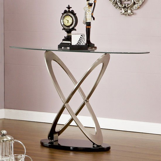 View Sphere glass console table