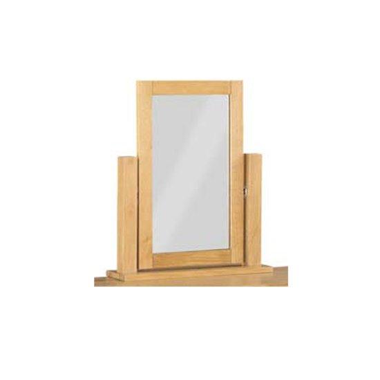 View Tertia dressing mirror with oak frame